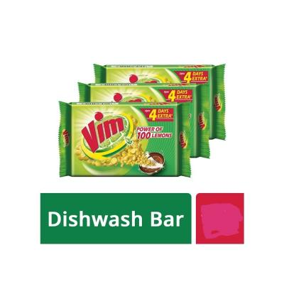 Vim Lemon Dishwash Bar 75 gm- Pack of 6