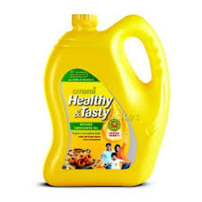 Emami Healthy & Tasty – Refined Sunflower Oil jar