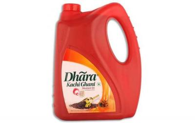Dhara Kachi Ghani Mustard Oil 5L