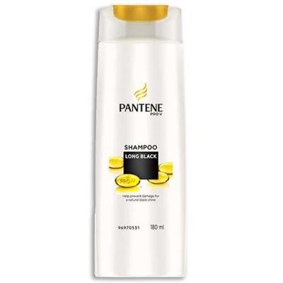 Pantene Long Black Pro-V Shampoo 180ml