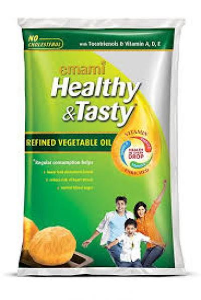 Emami Healthy & Tasty Refined Oil 1 L pouch