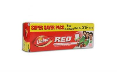 Dabur Red Paste For Teeth And Gums 2x200g