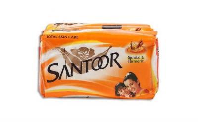 Santoor Sandal & Turmeric Soap 4x100g